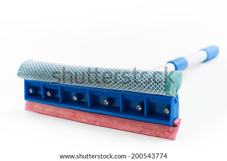 Sponge mop for cleaning glass  - stock photo