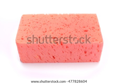 Sponge over white background