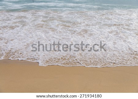 Sponge water on beach, phuket, thailand - stock photo