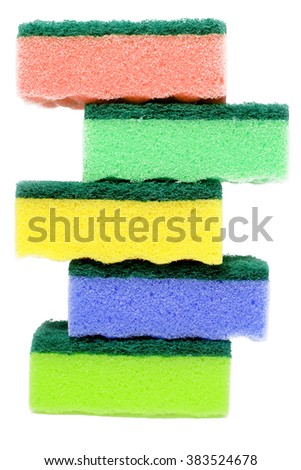 sponges isolated