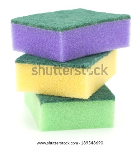 sponges isolated on the white background