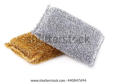Sponges isolated on white background. - stock photo