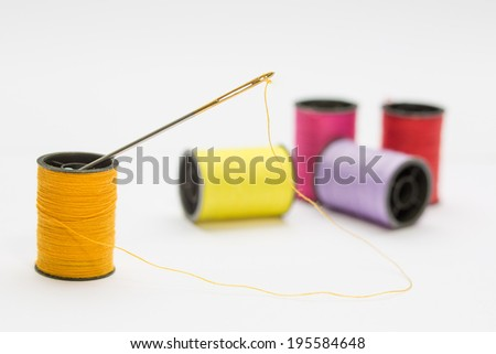 spools of cotton - stock photo