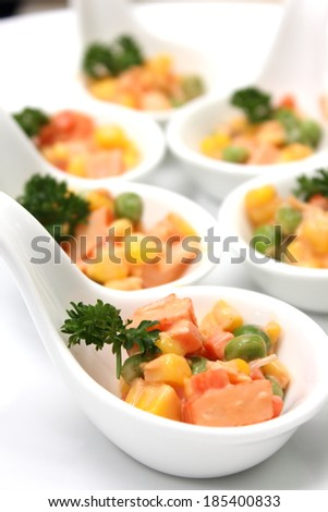 Spoon corn salad