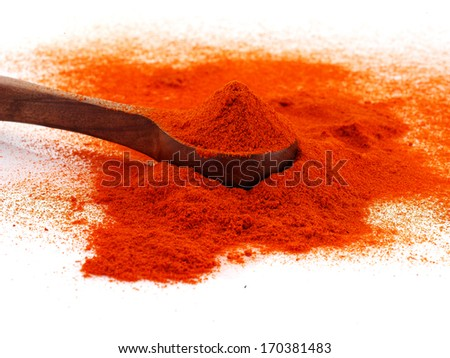 spoon full of the chilli powder