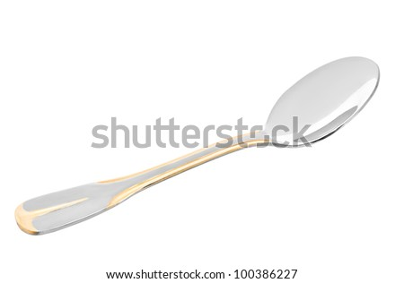 spoon isolated on a white background