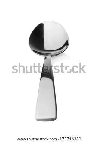 spoon isolated on white background - stock photo