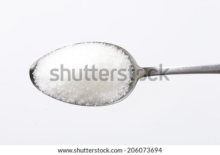 Spoon of sugar - stock photo