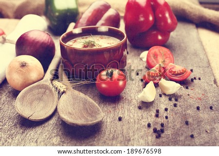 spoons and food  - stock photo