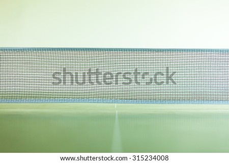 Sport active lifestyle concept. Closeup net for a table tennis - stock photo