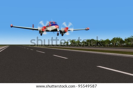 Sport aircraft on the runway. - stock photo