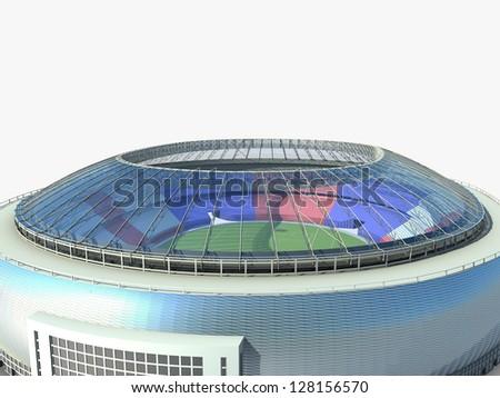 sport arena. stadium 3d illustration - stock photo