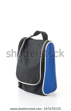 sport bag on white background