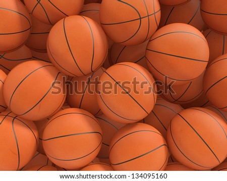 Sport balls background. 3d rendered illustration.