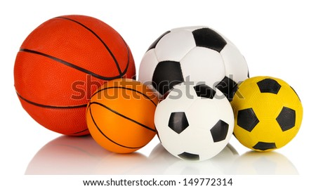 Sport balls, isolated on white