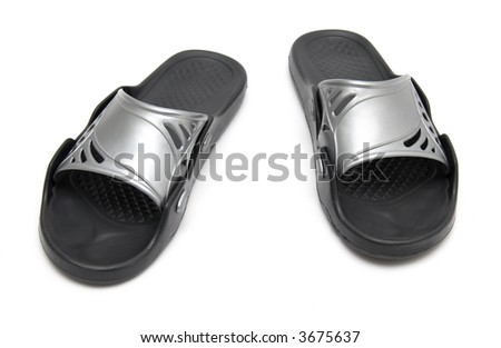 Sport Bedroom Slippers Isolated On White