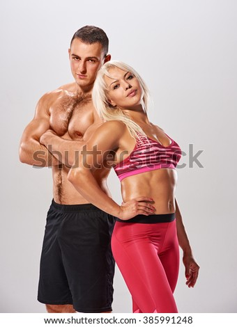 sport bodybuilder couple