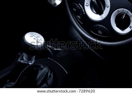 sport car interior - stock photo