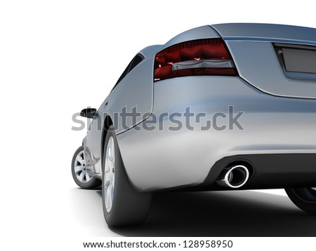 Sport car isolated on a white background