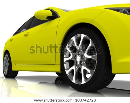 Sport car isolated on white - stock photo