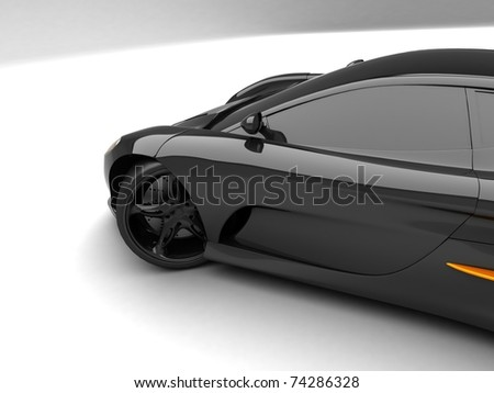 Sport car on white background - stock photo