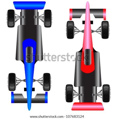 Sport car scheme top view.  illustration. - stock photo
