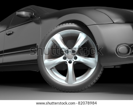 Sport Car Wheel - stock photo
