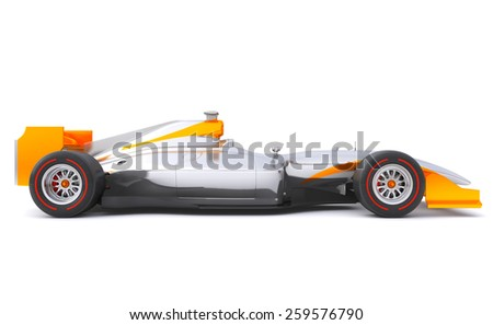 Sport car with no brand name is designed and modelled by myself - stock photo