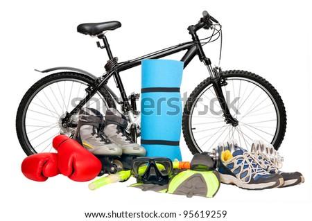 sport equipment - stock photo