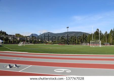 Sport field - stock photo