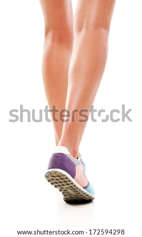Sport, fitness. Legs in action - stock photo