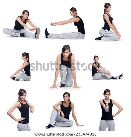 sport girl fitness - stock photo