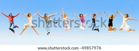 sport in the sky - stock photo