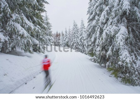 Sport in winter, immunity, active life, snow in nature