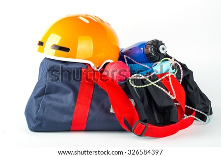 Sport item for your choose activity with white background.