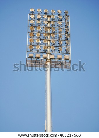 Sport lights with sky
