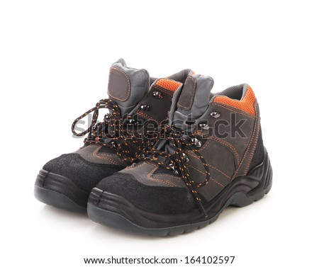 Sport man's boots. Isolated on a white background.