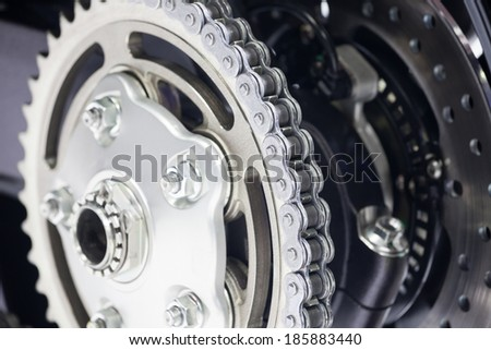 Sport Motorcycle Chain  - stock photo