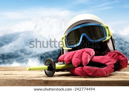 sport of ski and alpine  - stock photo