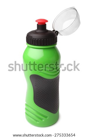 Sport plastic water bottle on white background - stock photo