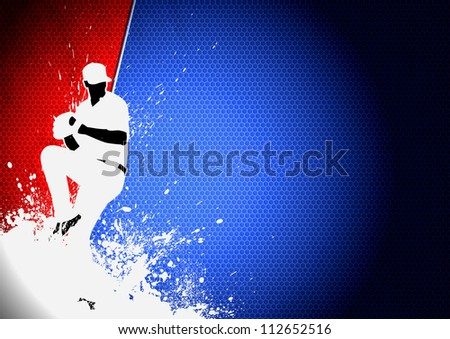 Sport poster: Baseball player background with space