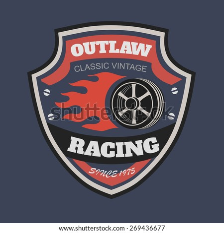 Sport racing typography, t-shirt graphics, s.  T-shirt vintage printing designs