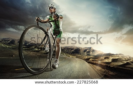 Sport. Road cyclist.  - stock photo