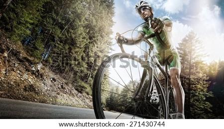 Sport. Road cyclist.  - stock photo