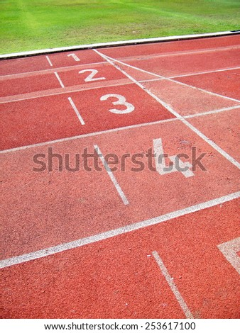 Sport running track - stock photo