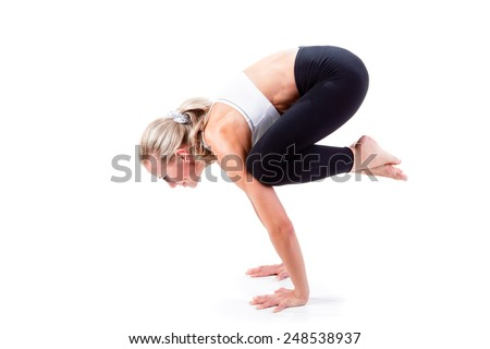 Sport Series: yoga . Crow Pose.