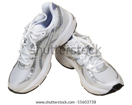 Sport shoe for running on white background - stock photo