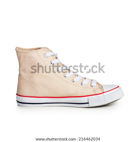 Sport shoe isolated on white background. Single object with clipping path - stock photo