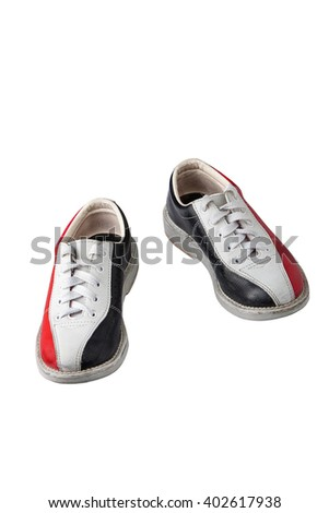 sport shoes for bowling isolated on white background - stock photo