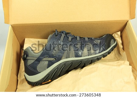 Sport shoes in box - stock photo